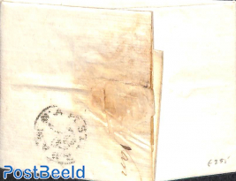 Folding letter from Amsterdam to the mayor of Schiedam