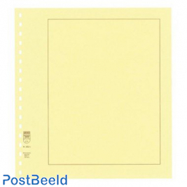 Lindner 802c blanco pages chamois, small grid, brown border 193 x 251 mm (10x)