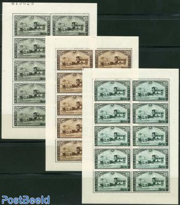 Postal coaches, 3 minisheets
