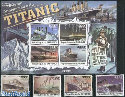 Titanic 4v + s/s