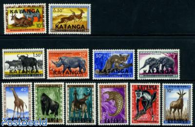 Katanga, Overprints 12v