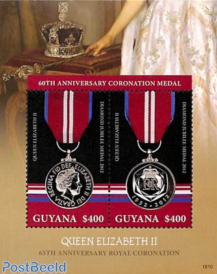 60th anniversary Coronation Medal s/s
