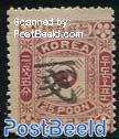 1Ch on 25p, overprint type II, Stamp out of set