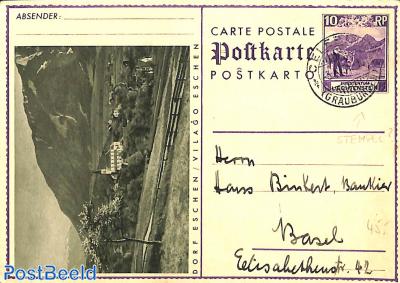 Illustrated Postcard Dorf Eschen