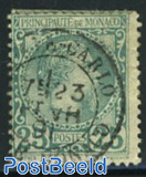 25c blue-green, used