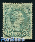 25c, used, very well centred