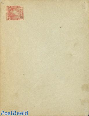 Envelope 15c, greenish cover