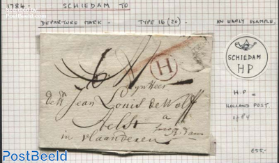 Letter from Schiedam to Aelst (Holland Post)