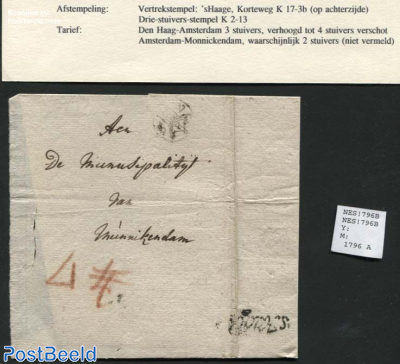 Letter from s-Gravenhage to Monnickendam