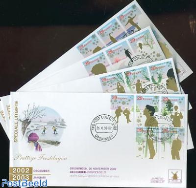 Christmas 20v FDC W150 (4 envelopes)
