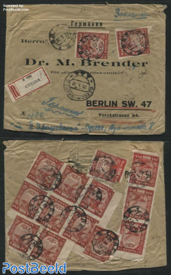 Registered letter from Odessa to Berlin