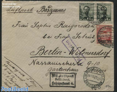 Airmail letter from Moscow to Berlin
