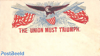Civil war envelope, the Union must Triumph