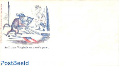 Civil war envelope, Jeff uses Virginia as a cat paw