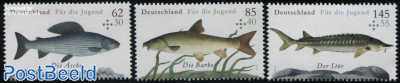 Welfare Stamps, Fish 3v