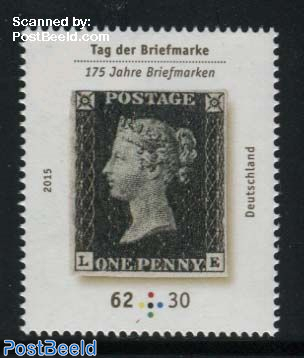 Stamp Day, Penny Black 1v